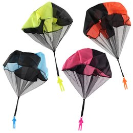 wholesale parachute toys Australia - Kids Hand-tossed Parachute Boys Girls flying toys outdoor exersice family Parent-child interaction props