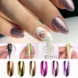 art nail powder gel NZ - Bubble Nail Glitter Rose Gold Mirror Powder Nails Pigment Soap Foam Chrome Nail Art Decorations Holographics Sequins Flakes Dust