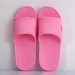 plastics home slippers NZ - Indoor Eva Plastic Soft Bottom Sandals And Slippers Home Hotel Women's Shoes Summer Non-slip Floor Tow Bathroom Slippers Men