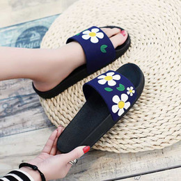 Summer Cartoon Sandals Australia - Fashion Summer Flats Indoor Non-slip Comfortable Cartoon Home slippers Shoes Women Sandals Slides Slippers Beach Flip Flops SP58