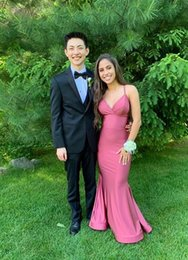 $enCountryForm.capitalKeyWord Australia - 2019 Sexy V-Neck Stretchy Long Red Prom Dresses with Straps Custom Made Mermaid Criss-cross Spandex Evening Gowns Party Dress for Women