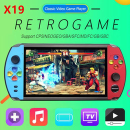 "Wholesale X19 Retro Handheld Game Player 8GB 16GB 7.0"" LCD Color Screen Video Game Console For Nostalgic Player Kids Child Gift"
