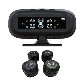 Discount mini usb solar - Solar Powered USB Charging Wireless Mini Smart Car TPMS Tire Pressure Monitoring Solar System LCD Security Alarm Systems
