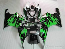 Kawasaki Zx7r Green Australia - fairing kit for Kawasaki Ninja ZX7R 1996-2003 green black fairings kits ZX7R 96-03 TY55