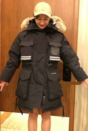 fashion snow parka Australia - Women Parkas WINTER CANADA Brand SNOW MANTRA-1 Down & Parkas WITH HOOD Snowdome jacket Real wolf Collar White Duck GOOSE Outerwear & Coats