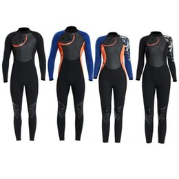 Discount sail clothes 1.5mm Breathable Diving Wetsuit One-Piece Long Sleeve Unisex Surfing Swimming Sailing Clothes Snorkeling Diving Equipmen