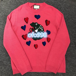 $enCountryForm.capitalKeyWord Australia - High end women knit sweater crew neck high-grade explosions knitted sweater Frog love with letter printing women fashion women's Sweater