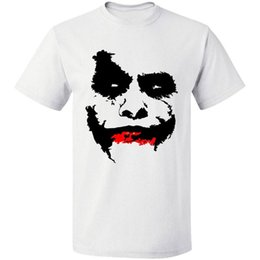 8d1b5b45 Knight T Shirt Australia - RETNO HEATH LEDGER FACE SUICIDE SQUAD JOKER DARK  KNIGHT TEE FREE
