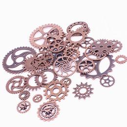 Gear Fit Bracelet Australia - Sweet Bell Mix 150 pcs Antique Copper Charms Gear Pendant Antique bronze Fit Bracelets Necklace DIY Metal Jewelry Making D0537
