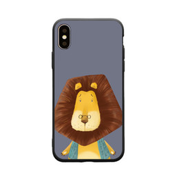 $enCountryForm.capitalKeyWord NZ - Cartoon lion Pattern Crashproof Soft Back Cover TPU Cell Phone Cases Protective Covers For Apple iPhone X XR XS MAX 6 6S 7 8 PLUS
