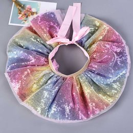 birthday tutu sets Australia - 2019 Baby Girls Rainbow TUTU Skirt Set Headband +Tutu Skirt Rainbow Tutus Birthdays Party Tutus Skirt Girls Pettiskrit Cloth C32