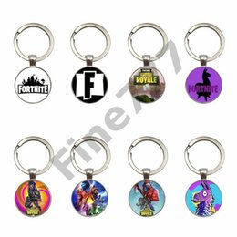 Kid Gems Australia - Fortnita key ring toy props hot and classic gift set FPS keychain Cool metal crystal gem pendant Game Animation Accessories kids toys