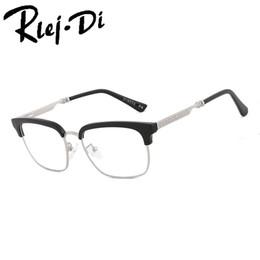 180dd7d638 NZ009 Anti-Radiation Goggles Plain Glass Spectacles Fashion Women  Metal+Plastic Semi Circle Frame Glasses