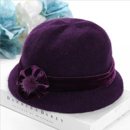 66cebe75 2018 middle-aged autumn and winter warm fashion knit hat female wild  grandmother mother-in-law aunt hat plus cashmere wool
