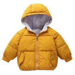 $enCountryForm.capitalKeyWord NZ - 2018 Kids down coats Baby Girl Boys Winter Hooded Coat Cloak Jacket Thick Warm Outerwear Clothes baby girl clothes dave bella A