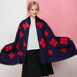 $enCountryForm.capitalKeyWord Australia - 2019 autumn and winter new luxury high quality flowers imitation cashmere tassel scarf female warm shawl