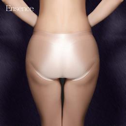4316e785c320 4 Pieces Pack Ensence Mixed Colors Sexy Lingerie Seamless Briefs Satin Silk  Panties for Girls Underwear Women Cotton Crotch