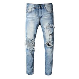 a87fb91bc75 2019 Brand New Miri Jeans Mens Hole Patch Jeans Mens Designer Distressed Zipper  Pants Fashion Hip Hop Jeans For Men