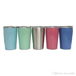 $enCountryForm.capitalKeyWord UK - Stainless Steel Cup Wine Tumblers 12oz 350ML Kid Milk Cup Wine Glasses Beer Mugs Wine Glass Coffee Mugs With Lid With Straw
