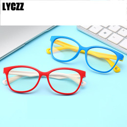Kids Blocks Wholesale Australia - LYCZZ Kids Glasses Frames Computer Goggles Anti-blue Ray Blocking Eyewear UV protection Accessories Child Girl Boy Eyeglasses