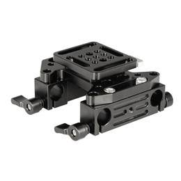 dslr camera mount clamp UK - CAMVATE Quick Release V-Lock Mounting Battery Plate With 15mm Dual Rod Clamp Adapters Item Code: C2156
