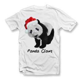 0802b6c2 Adults Panda Claws T-Shirt | Christmas T-Shirt | Cute Panda Christmas  TeeFunny free shipping Unisex Casual Tshirt top