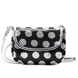 Chinese  Cheap Hot Sale Cute Mini Circle Silver Sequins Flip Shoulder Satchel CrossBody Purses And Handbags Clutch Designer High Quality Gift manufacturers