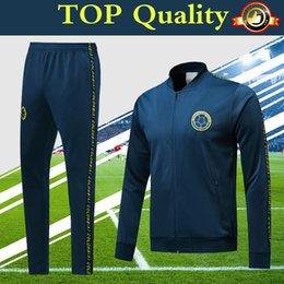 5329f572d colombia soccer jacket navy blue tracksuit 2019 top quality PRE-MATCH  winter training suit 19 20 football jacket sports pants set