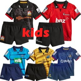 1aa38f97b20 NEW 2018 Zealand Club rugby jerseys KIDS nrl jersey Crusaders Highlanders  Chiefs blues Hurricanes home NRL National Rugby League