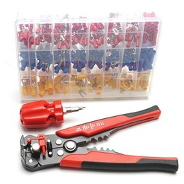 Freeshipping Electrical Wire Terminal Kit With 5-In-1 Automatic Wire Stripper Crimper Plier And 400Pcs Connectors Easy And Effective