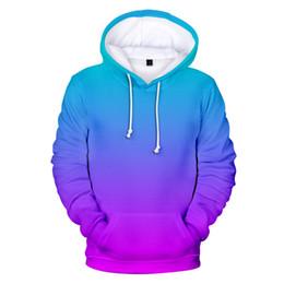 Girls pink sweatshirt online shopping - 3D Hoodies Men Women Sweatshirts Custom Colourful Gradient Hoodde Mens Solid Color Hooded Boy Girls Rainbow Polluvers Coats MX191121