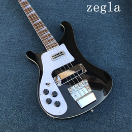 $enCountryForm.capitalKeyWord NZ - Factory Wholesale Black 4-string Electric Bass Guitar with Left-hand,White Pickguard,Chrome Hardwares,Offer Customized