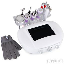 Ultrasonic Hot Cold Machine UK - New Arrived Diamond Dermabrasion Machine Ultrasonic Ultrasound Photon Skin Rejuvenation Microcurrent Galvanic Gloves Hot Cold Probe Anti-age