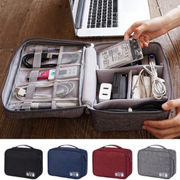 $enCountryForm.capitalKeyWord Australia - Travel Storage Bags Nylon Electronics Accessories Organizer Travel Storage Hand Bag Cable USB Drive Case