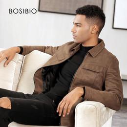 $enCountryForm.capitalKeyWord Australia - BOSIBIO 2018 Fashion Slim Fit Mens Jackets Faux Leather Brown Autumn Thin Coats Turn-down Collar Men Outerwear High Quality 5008