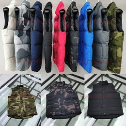 Men s casual vest styles online shopping - TOP French Designer Men Winter Down Tactical Vest Classic Feather Weskit Jackets Casual bodywarmer Vests Coat North Puffer Doudoune Homme