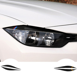 $enCountryForm.capitalKeyWord Australia - Headlights Eyebrows Eyelids carbon fiber Accessories car sticker for BMW F30 320i 325i 316i Front Headlamp Eyebrows 3 series