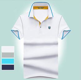$enCountryForm.capitalKeyWord Australia - 2019 summer new High quality cotton Polos classic brand Men Polo Shirt Men Business Casual solid Short Sleeve embroidery tops tee M-3XL