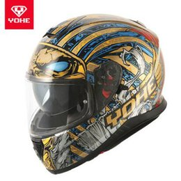 Discount yohe full face - 2019 Winter New YOHE Full face Motorcycle Helmet Double Lens Full cover Motorbike Helmet Racing locomotive Safety
