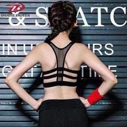 $enCountryForm.capitalKeyWord Australia - High Impact Mesh Women Sport Bras Cropped Yoga Bra Fitness Workout Backless Shockproof Running Vest Tank Gym Workout Underwear