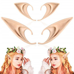 wholesale elf costumes Australia - Fluorescent Ear Cosplay Pixie Elf Soft Ears Party Dress Up Costume Masquerade Accessories Props Halloween Elven Vampire Fairy Cosplay Ear