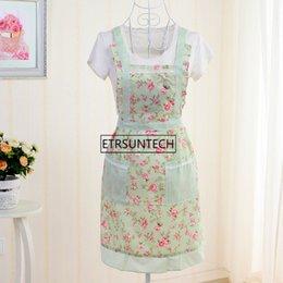 $enCountryForm.capitalKeyWord Australia - wholesale hot sale Women Apron Restaurant Home Kitchen Apron Flower Printed Pocket Lace Cooking Cotton Apron