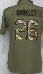 Children S Shirts NZ - Youth New York 26 Jersey Children Shirts Boys Embroidery and 100% stitched Olive Salute to Service Limited American Football jerseys