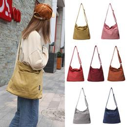 $enCountryForm.capitalKeyWord NZ - High Quality Women Ladies Crossbody Shoulder Bag Tote Messenger Corduroy Satchel Handbag
