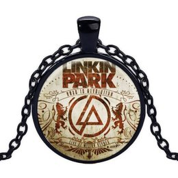 Linkin park pendant online shopping - Quote Jewelry Pendant Fashion Cool Linkin Park Band Logo Charm Choker Pendant Necklace Women Men Jewelry time gemstone necklace