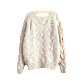 4af55172a3a Korean oversized sweaters online shopping - Nice Autumn Korean O Neck  Oversized Knitted Sweater Women Long