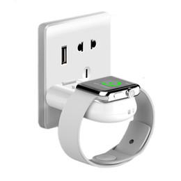 Nueva Llegada Portátil de Pared Portátil Coche DIY USB Cargador de Reloj Inteligente de Carga Inalámbrica Magnética para Apple iWatch en venta
