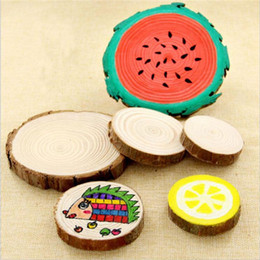 $enCountryForm.capitalKeyWord Australia - 10pc Vintage Natural Wooden Cup Mat Home Table Coasters Pad DIY Handcraft Decoration Kids Play Painting Handmade Coffee Cup Pads