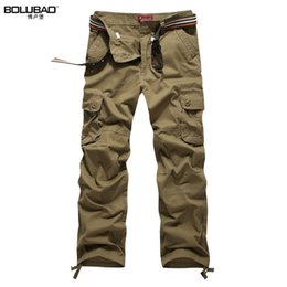 $enCountryForm.capitalKeyWord NZ - Bolubao Men Cargo Pants Brand New Quality Cotton Casual Solid Mens Military Trousers Multi Pockets Men Tactical Pants Y19042201