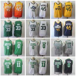 958c2103b2d Larry Bird Jersey Australia - Youth Donovan 45 Mitchell Jerseys Kids  Basketball Boy Kyrie Irving 11